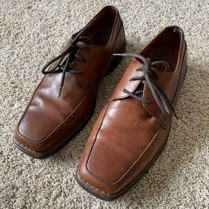 FLORSHEIM men leather dress shoes size 9